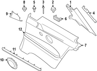 Imagen de Panel / guardafango posterior lateral Original para BMW 328i 2007 BMW 328xi 2007 BMW 335i 2007 Marca BMW Número de Parte 51439165949