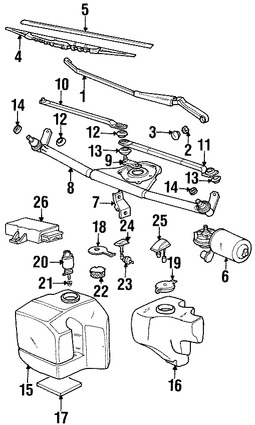 Imagen de Depósito del líquido de limpia parabrisa Original para BMW 318ti 1999 Marca BMW Número de Parte 61678366423