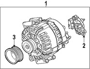 Imagen de Polea del Alternador Original para BMW X5 2007 2008 2009 2010 Marca BMW Número de Parte 12317560678