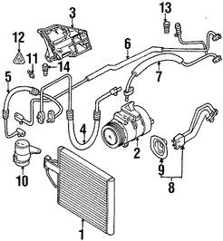 Imagen de Manguera de Refrigerante Aire Acondicionado Original para BMW Z8 2000 2001 2002 2003 Marca BMW Número de Parte 64118387320