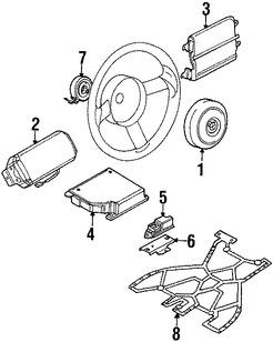 Imagen de Airbag de Asiento Original para BMW Z8 2000 2001 2002 2003 Marca BMW Número de Parte 72128243109