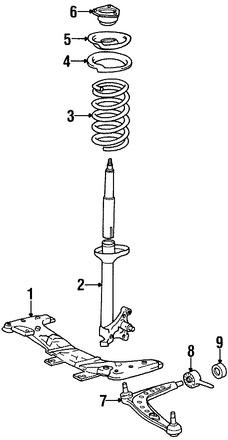 Imagen de Buje del Brazo de Control de la Suspensión Original para BMW 318i 1984 1985 1991 BMW 318is 1991 Marca BMW Número de Parte 31129058815