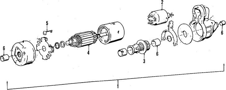 Imagen de Motor de arranque Original para BMW 524td 1986 Marca BMW Remanufacturado Número de Parte 12412244344
