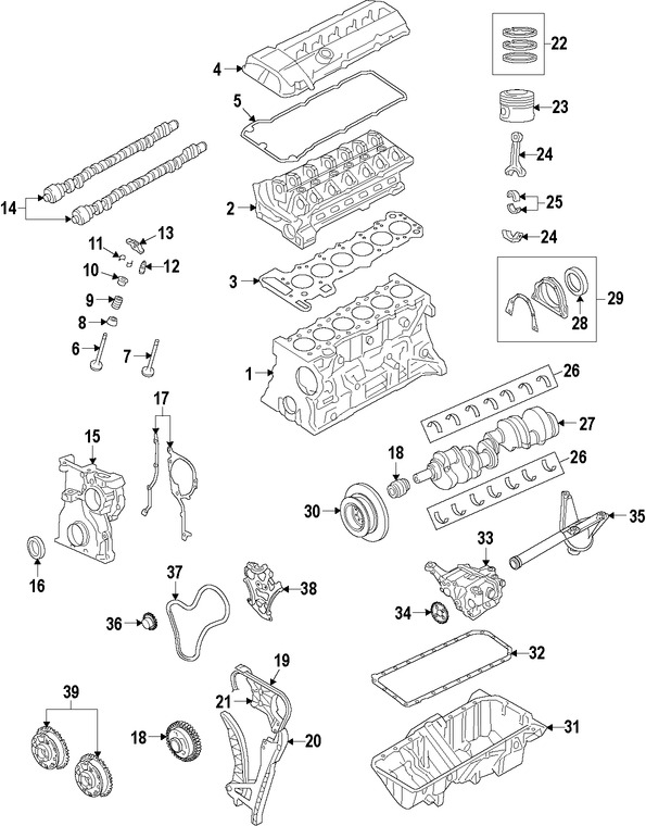 2007 Bmw X5 Diagrama Del Motor