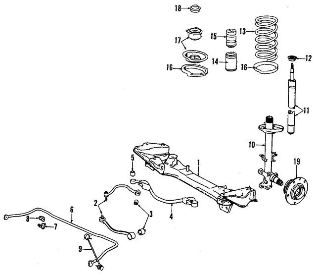 Imagen de Puntal de suspensión Original para BMW 850Ci 1994 BMW 850CSi 1994 BMW 840Ci 1994 Marca BMW Número de Parte 31312227255
