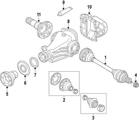 Imagen de Eje de Transmisión Original para BMW ActiveHybrid 3 2013 2014 2015 Marca BMW Número de Parte 26108609718