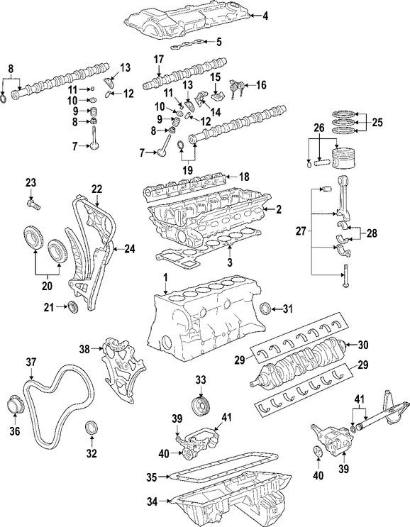 Imagen de Motor Completo Original para BMW 525i 2006 2007 BMW 530i 2006 2007 Marca BMW Número de Parte 11000422941