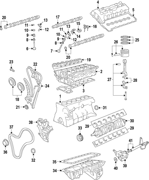 Imagen de Motor Completo Original para BMW 535i 2008 2009 Marca BMW Número de Parte 11000429704