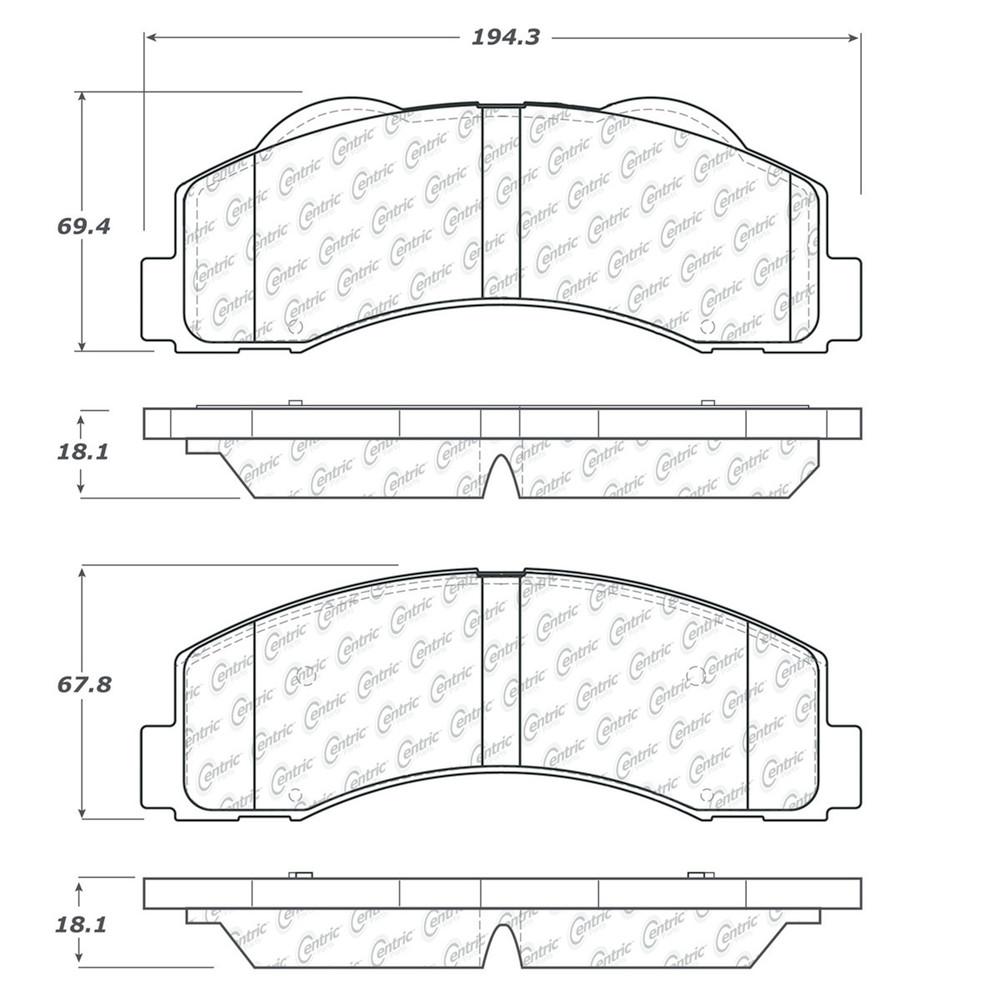 Imagen de Pastilla de Freno de Disco para Ford F-150 2010 2011 Marca CENTRIC PARTS Número de Parte #106.14140