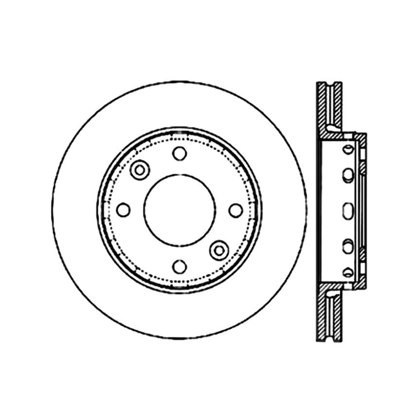 Imagen de Rotor disco de freno para Kia Sephia 2001 Kia Spectra 2001 2002 2003 Marca CENTRIC PARTS Número de Parte #120.50005