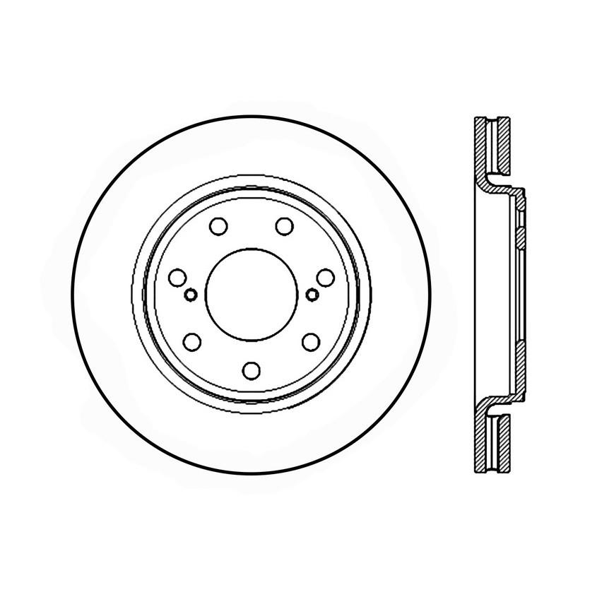 Imagen de Rotor disco de freno para Ford F-150 2012 2013 Marca CENTRIC PARTS Número de Parte #120.65134