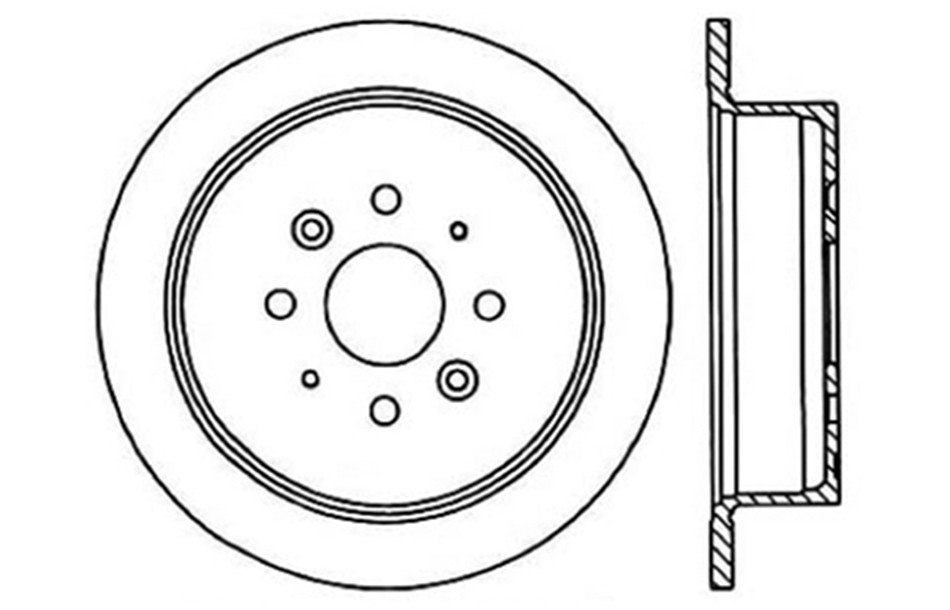 Imagen de Rotor disco de freno para Kia Sephia 1997 Marca CENTRIC PARTS Número de Parte #121.50003