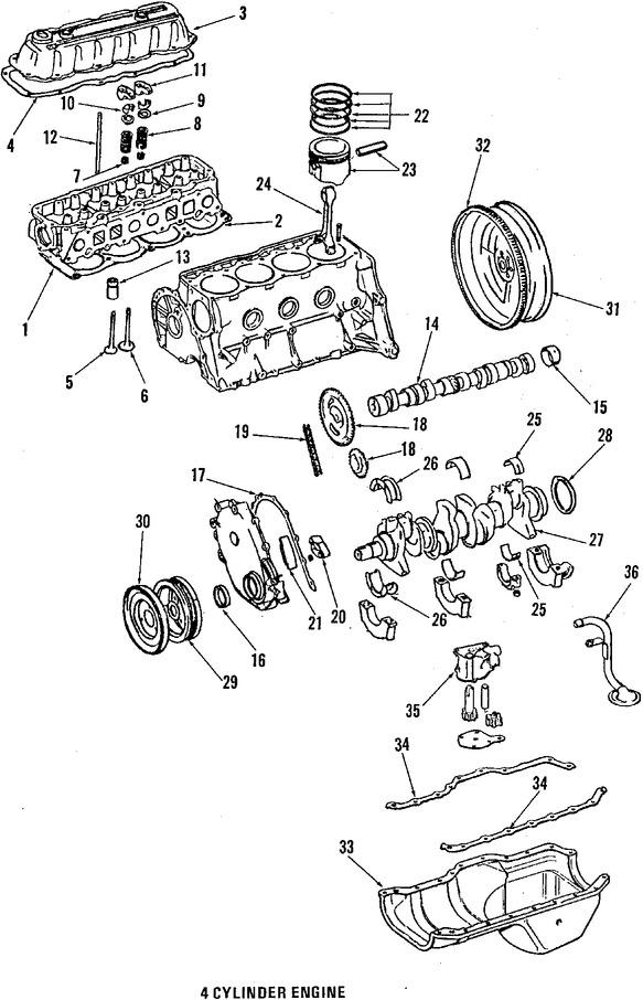Imagen de Empacadura de Cubierta de Válvula Original para American Motors Eagle 1984 Marca CHRYSLER Número de Parte J3241731