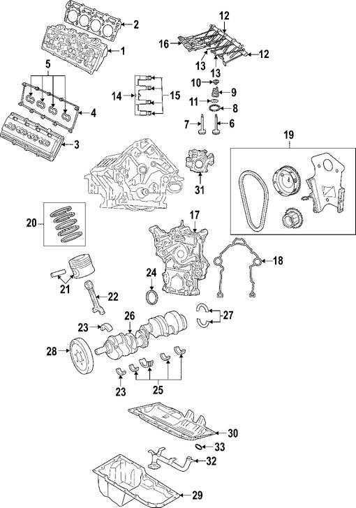Culata del motor Original para Dodge Charger Dodge Magnum