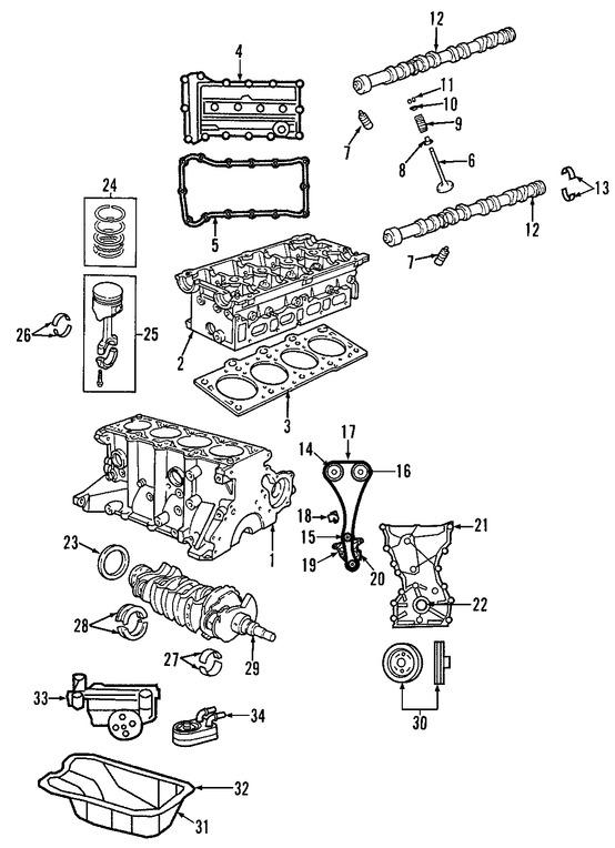 Culata del motor Original para Dodge Caliber 2008 2009