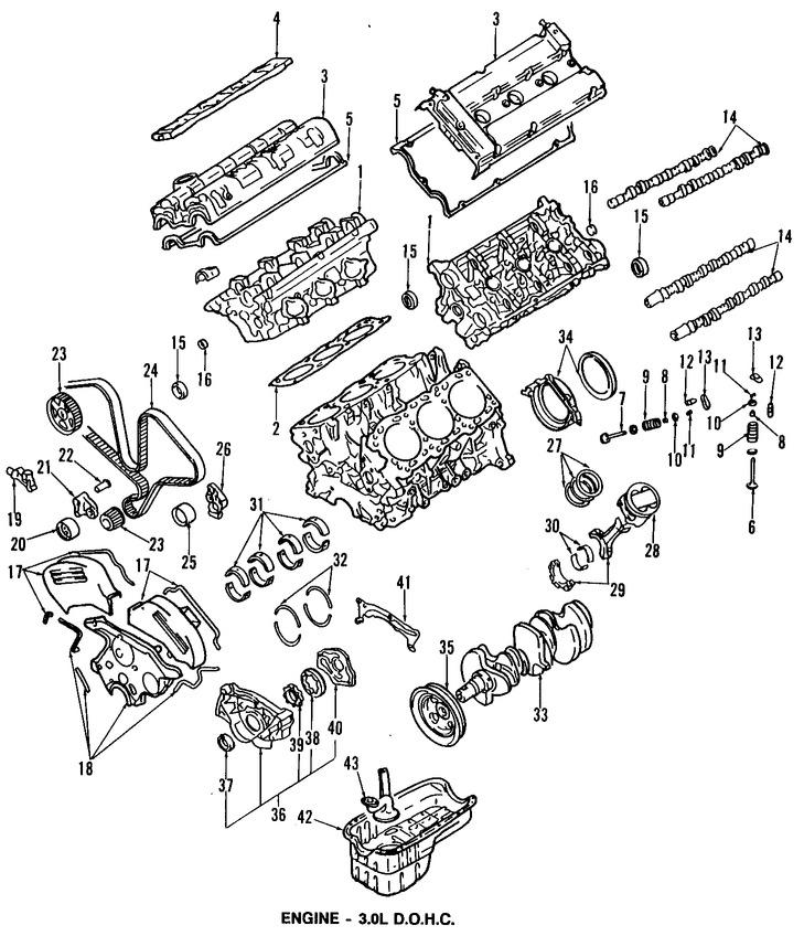 Imagen de Empacadura de la culata Original para Dodge Stealth 1991 1992 1993 Marca CHRYSLER Número de Parte MD166720