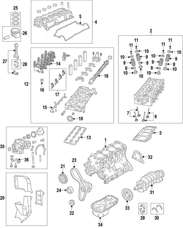 Imagen de Seguidor del árbol de levas Original para Fiat 500 Fiat  Fiat 500L Dodge Dart Jeep Marca CHRYSLER Número de Parte 68249809AA