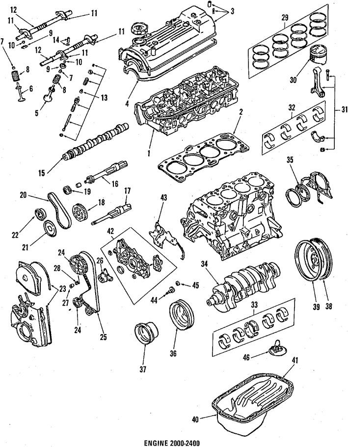 Imagen de Juego de Empacadura de la culata Original para Mitsubishi Mighty Max 1987 1988 1989 Marca CHRYSLER Número de Parte MD997254