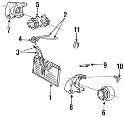 Imagen de Compresor Aire Acondicionado Original para Chrysler TC Maserati 1989 1990 Marca CHRYSLER Número de Parte 4425805