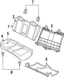 Imagen de Respaldo de Asiento Original para Chrysler Sebring 2010 Marca CHRYSLER Número de Parte 1RX18XDVAA