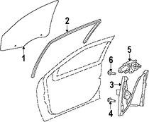 Imagen de Regulador de Vidrio Automatico Original para Chrysler Sebring 2007 2008 2009 2010 Marca CHRYSLER Número de Parte 68020563AA