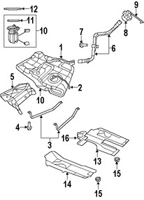 Imagen de Tapa del tanque de combustible Original para Chrysler Sebring 2007 2008 Marca CHRYSLER Número de Parte 5016763AE