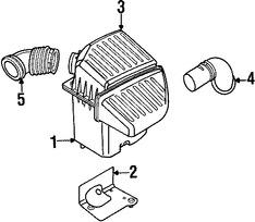 Caja del Filtro de Aire Original para Chrysler PT Cruiser