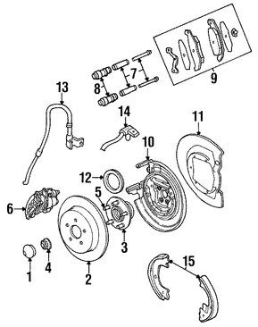 Imagen de Sensor de Velocidad Freno ABS Original para Chrysler PT Cruiser 2003 Marca CHRYSLER Número de Parte 4860038AC