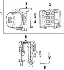 Imagen de Módulo de control de ABS Original para Chrysler 300 2015 2016 Marca CHRYSLER Número de Parte 68258642AC