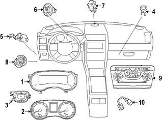 Imagen de Panel de Control de Termperatura Climatización Original para Chrysler 300 2015 2016 2017 Marca CHRYSLER Número de Parte 56054902AD