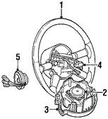 Imagen de Timon / Volante / Manubrio Original para Chrysler PT Cruiser 2006 Marca CHRYSLER Número de Parte 1EX89DKAAB