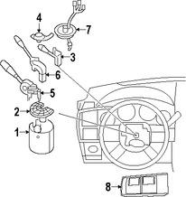 Imagen de Interruptor Control de Crucero Original para Dodge Charger 2008 2009 Dodge Magnum 2008 Chrysler 300 2009 Marca CHRYSLER Número de Parte 68040070AA