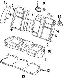 Imagen de Cubierta de Asiento Original para Chrysler 300 2008 Dodge Charger 2008 2009 Marca CHRYSLER Número de Parte 1GN681DVAA