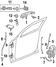 Imagen de Bisagra de puerta Original para Chrysler 300 2008 Dodge Charger 2007 2008 Dodge Magnum 2008 Marca CHRYSLER Número de Parte 4575746AA