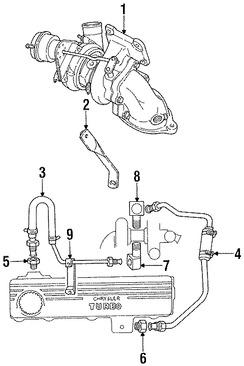 Imagen de Turbo Original para Dodge Daytona 1987 1988 1989 Marca CHRYSLER Número de Parte 4483143