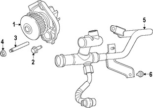 Imagen de Bomba de agua del motor Original para Fiat 500 Fiat 500L Fiat  Dodge Dart Jeep Marca CHRYSLER Número de Parte 4892713AC