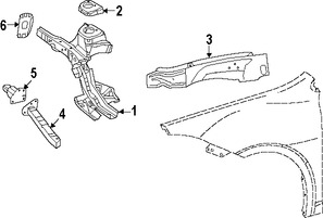 Imagen de Conjunto de proteccion del guardafangos Original para Dodge Dart 2013 Chrysler 200 2015 Marca CHRYSLER Número de Parte 68105063AA