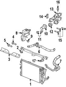 Termostato del refrigerante del motor Original para Dodge