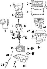 Imagen de Bomba de Aceite Original para Dodge Caliber 2008 2009 Marca CHRYSLER Número de Parte 4884805AF