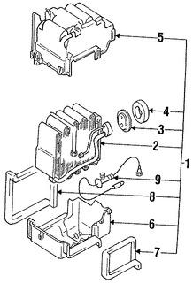 Imagen de Nucleo del evaporador del aire acondicionado Original para Dodge Stealth 1991 1992 1993 Marca CHRYSLER Número de Parte MB630407