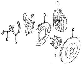 Imagen de Pinza de Freno de Disco Original para Dodge Stealth 1991 1992 1993 1994 Marca CHRYSLER Número de Parte MB857255