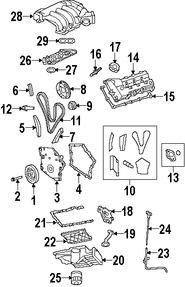 Imagen de Kit de Distribución Original para Chrysler Sebring 2007 2008 2009 Dodge Avenger 2008 Marca CHRYSLER Número de Parte 5183244AB