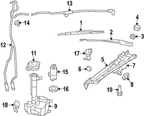 Ojal Bomba de limpia parabrisas Original para Jeep