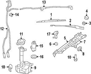 Boquilla del Limpiaparabrisas Original para Chrysler PT