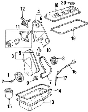 Tapa de Valvula del Motor Original para Chrysler Cirrus