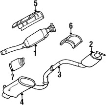 Imagen de Convertidor Catalítico Original para Dodge Stratus 1995 Chrysler Cirrus 1995 Marca CHRYSLER Número de Parte 4616452