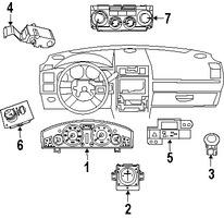 Imagen de Panel de Control de Termperatura Climatización Original para Chrysler 300 2008 Dodge Magnum 2008 Marca CHRYSLER Número de Parte 55111873AD