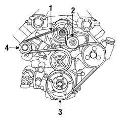 Imagen de Polea del cigueñal Original para Dodge Viper 2003 2004 2005 2006 Marca CHRYSLER Número de Parte 5037204AB