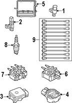 Imagen de Juego de cables de bujía Original para Dodge Viper 2006 2004 2005 Marca CHRYSLER Número de Parte 5135171AA