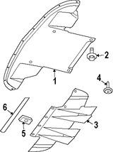 Imagen de Guardasalpicaduras del parachoques Original para Dodge Viper 2008 2009 2010 Marca CHRYSLER Número de Parte 5290137AE